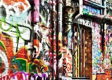 Graffiti on Melbourne wall